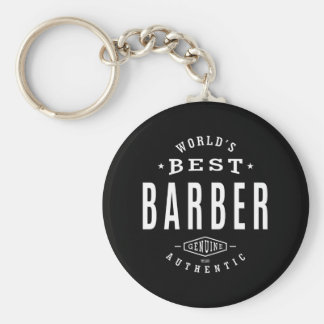World's Best Barber Keychain