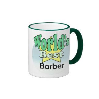 World's best barber ringer coffee mug