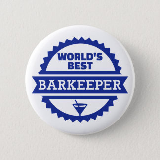 World's best barkeeper bartender 2 inch round button