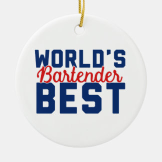 World's Best Bartender Ceramic Ornament