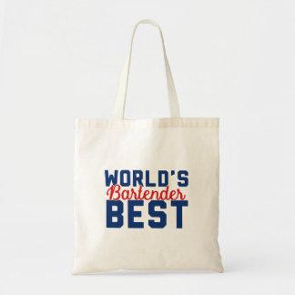 World's Best Bartender Tote Bag
