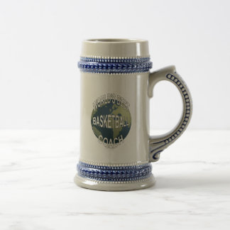 World's Best Basketball Coach 18 Oz Beer Stein