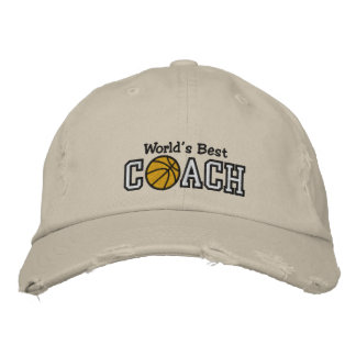 World's Best Basketball Coach Embroidered Hats