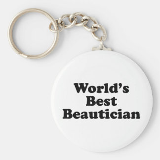 World's Best Beautician Keychain
