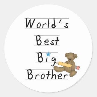 World's Best Big Brother Round Stickers