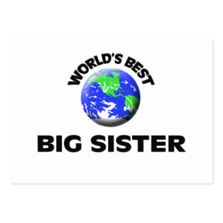 World's Best Big Sister Business Card Template