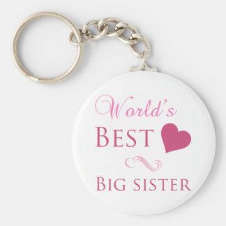 World's Best Big Sister (Heart) Keychain