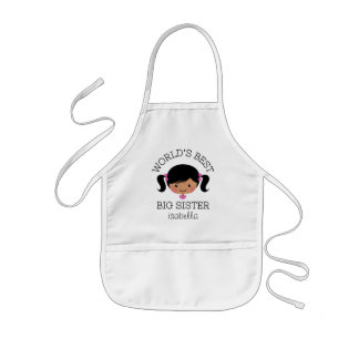 Worlds best big sister personalized kids apron
