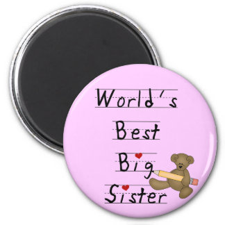 World's Best Big Sister Tshirts and Gifts 2 Inch Round Magnet