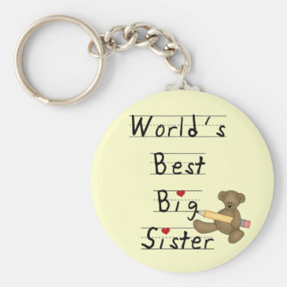 World's Best Big Sister Tshirts and Gifts Keychain