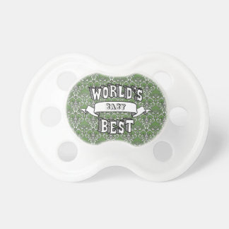 World's Best Blank Baby Typography Text Pacifier