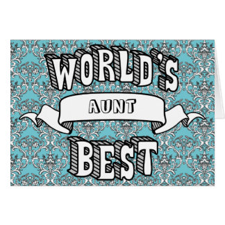 World's Best Blank Typography Text Floral Card
