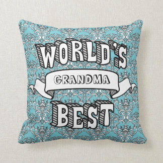 World's Best Blank Typography Text Floral Pillow
