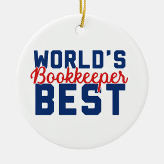 World's Best Bookkeeper Ceramic Ornament