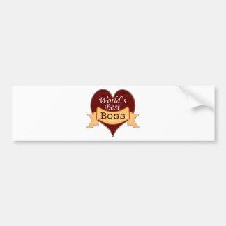 World's Best Boss Bumper Sticker