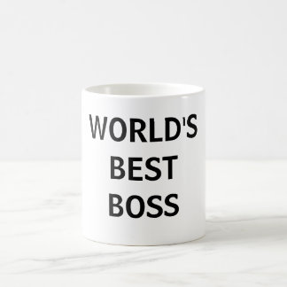 WORLD'S BEST BOSS CLASSIC WHITE COFFEE MUG