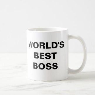 WORLD'S BEST BOSS COFFEE MUG