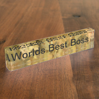 Worlds Best Boss Desk Nameplates
