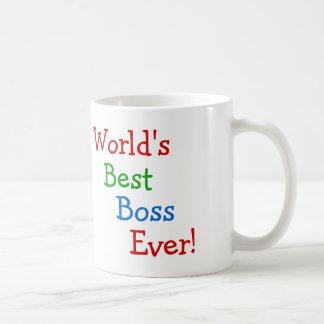 World's best boss ever classic white coffee mug