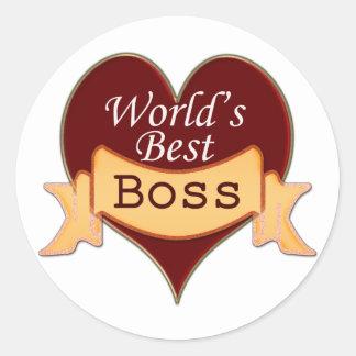 World's Best Boss Round Sticker