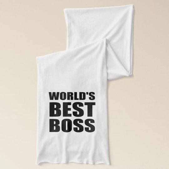 Worlds Best Boss Scarf Wrap
