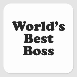 World's Best Boss Square Sticker