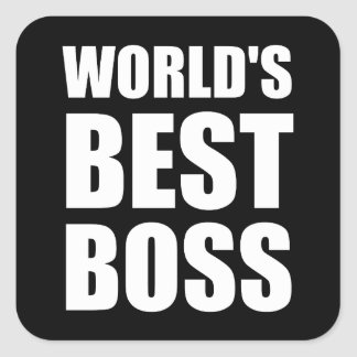 Worlds Best Boss Square Sticker