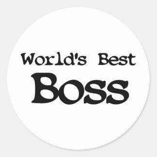 Worlds Best Boss Round Sticker