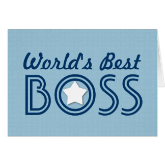 World's Best BOSS White Star Blue Pattern V1C Card