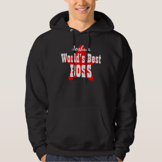 World's Best BOSS with Star V04 BLACK Hoodie