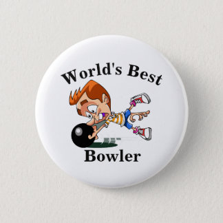 World's Best Bowler 2 Inch Round Button