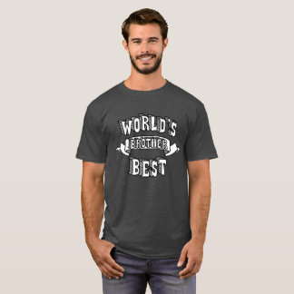 World's Best Brother Typography Text Shirt