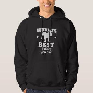 Worlds Best Bulldog Grandma Hoodie