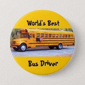 World's Best, Bus Driver 3 Inch Round Button
