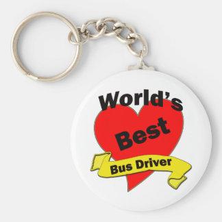 World's Best Bus Driver Basic Round Button Keychain