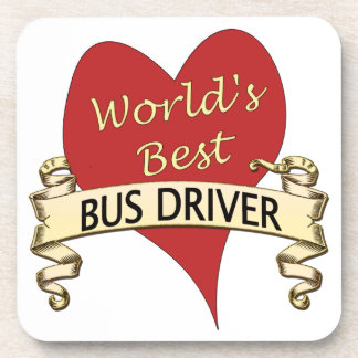 World's Best Bus Driver Beverage Coasters