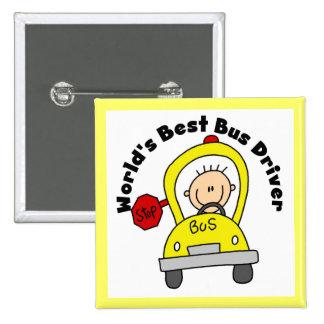 World's Best Bus Driver Button