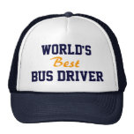 World's best bus driver cap trucker hat