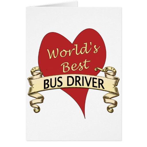 World's Best Bus Driver Cards