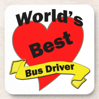 World's Best Bus Driver Drink Coaster