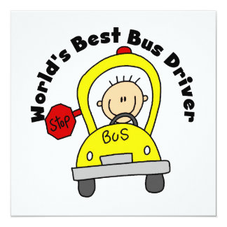 World's Best Bus Driver Personalized Invitation