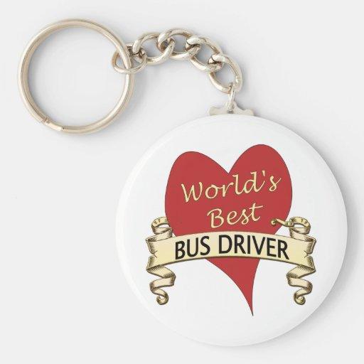 World's Best Bus Driver Key Chain