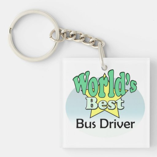World's best bus driver acrylic keychains
