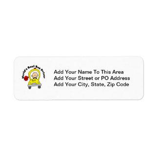 World's Best Bus Driver Return Address Label