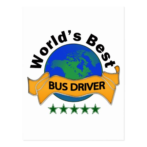 World's Best Bus Driver Post Cards