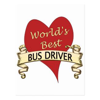 World's Best Bus Driver Postcard