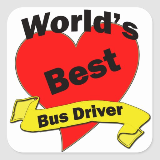 World's Best Bus Driver Stickers