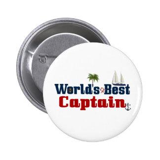 Worlds Best Captain 2 Inch Round Button