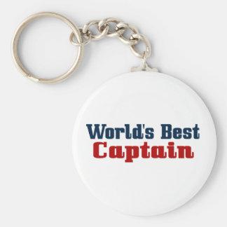 Worlds Best Captain Basic Round Button Keychain