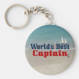 Worlds Best Captain Keychain